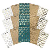 ARTEZA Gift Bags, 9.5 x7 x 3.4 Inches, Set of 15