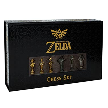 USAopoly The Legend of Zelda Chess Set | 32 Custom Sculpt Chess Pieces | Link vs. Ganon | Themed Chess Game from The Nintendo Zelda Video Games