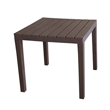Table de camping \'Bali\' Table Plateau imitation bois plastique Moka ...
