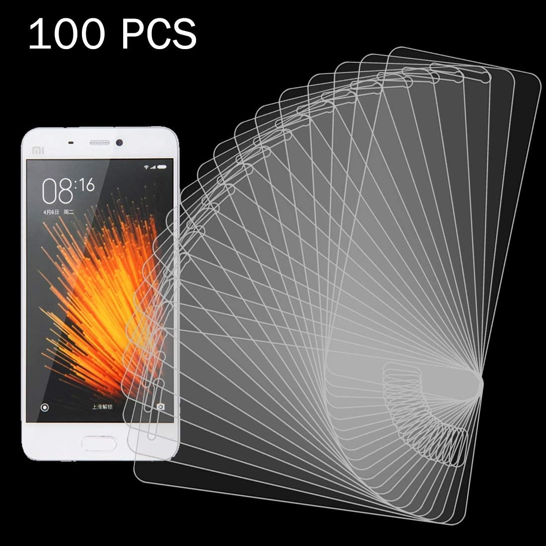 ProtectoresYHM 100 PCS for Xiaomi Mi 5 0.26mm 9H Surface Hardness 2.5D Explosion-Proof Tempered Glass Screen Film