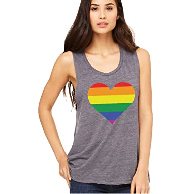 e4476987 Rainbow Heart Gay Pride Women's Muscle Tank LGBT Walk Gift Pride Tee at  Amazon Women's Clothing store: