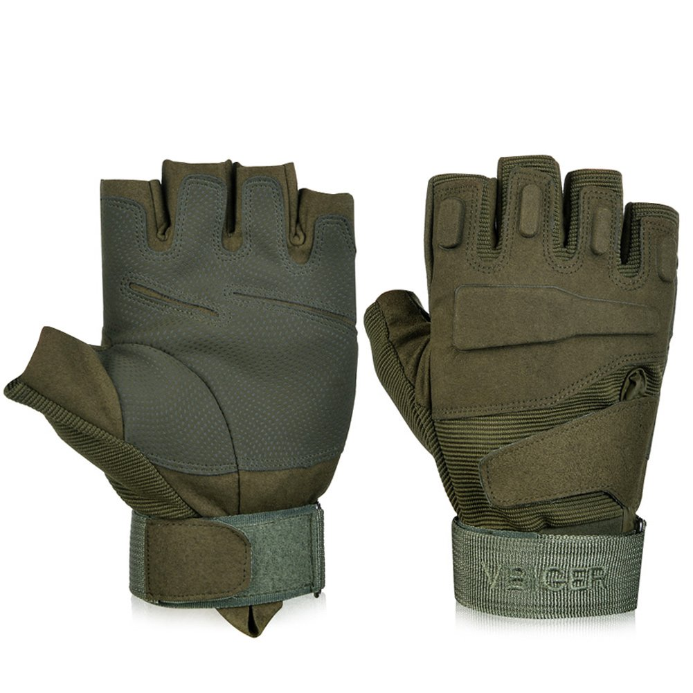 Motorcycle gloves half finger - Amazon Com Vbiger Military Tactical Gloves Half Finger Fingerless Gloves Airsoft Cycling Motorcycle Gloves Sports Outdoors
