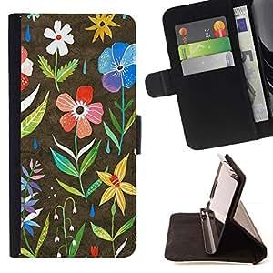 Momo Phone Case / Flip Funda de Cuero Case Cover - Primavera Blooming trullo Rosa Amarillo - LG G4
