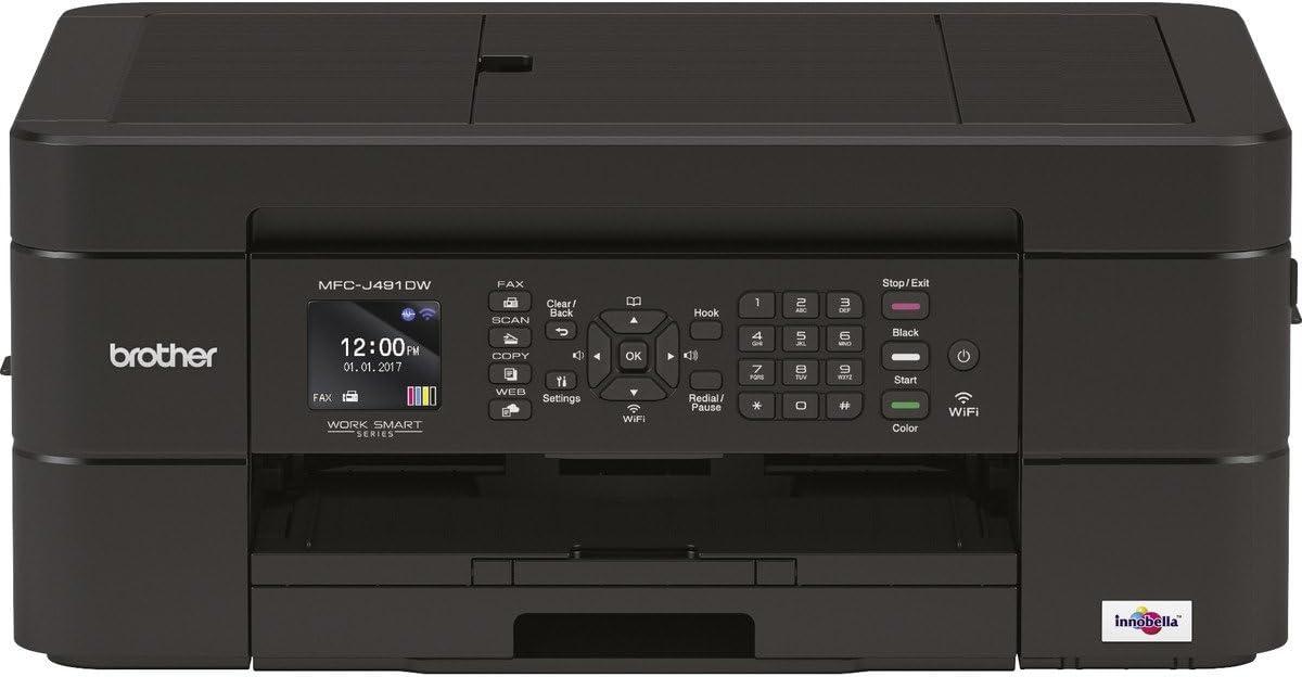 Brother MFCJ491DW Impresora de inyección de Tinta 4IN1 MFCJ491DWG1 ...