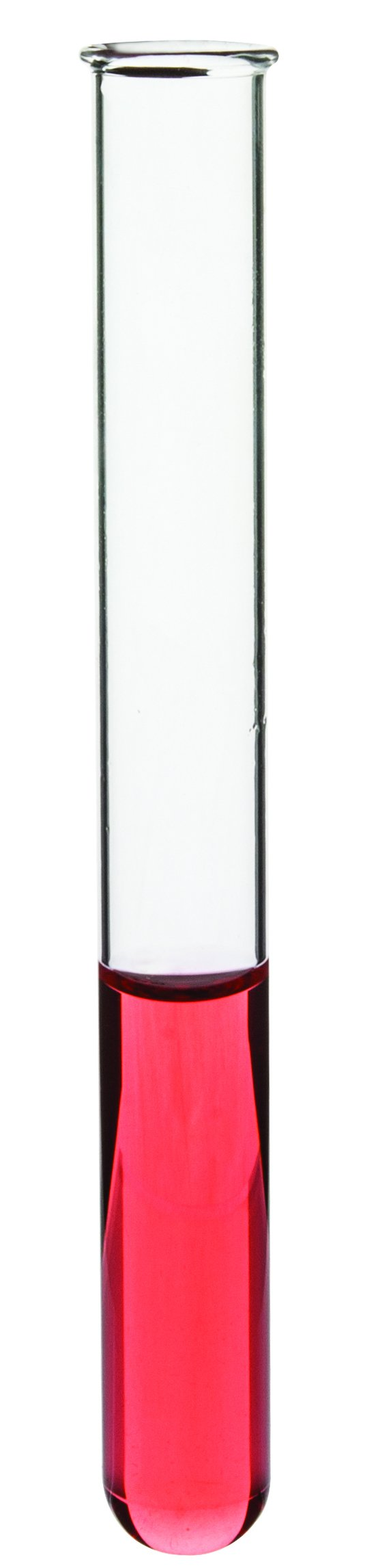 Eisco Labs Rimmed Borosilicate Glass Test Tube 15 x 130mm (5.25'' Height) Pack of 48