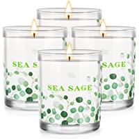 4 Pack Sage Candle for Cleansing House,Natural Soy Candles for Purification,Pure White Sage Aromatherapy Candles