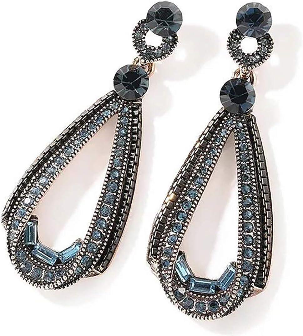 Women Vintage Bohemian Jewelry Silver Coloured glaze Dangle Drop Hook Earrings