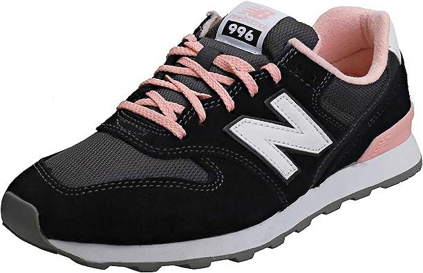 New Balance Wr996Ack - Zapatillas de piel de ante para mujer, color negro y  rosa