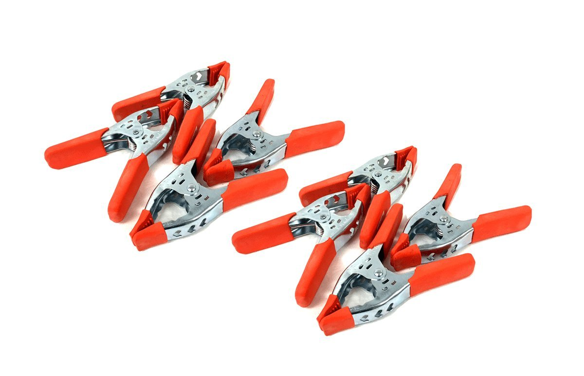 6'' inches Clamp Heavy Duty Spring Metal Clamps - Large 3 inch Jaw (8PC) by THE UM24