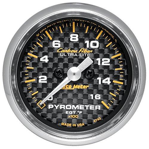 Auto Meter 4744 Carbon Fiber Electric Pyrometer Gauge Kit by Auto Meter