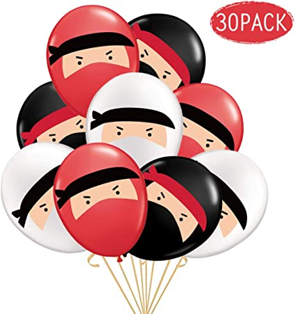 Kreatwow Ninja Balloons Birthday Party Supplies Decorations 30Pack