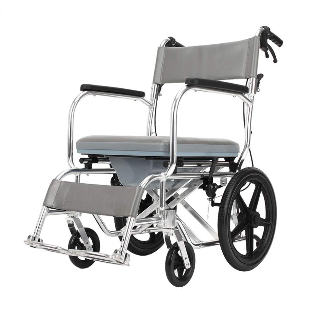 ZCXCC Silla para Silla De Ruedas Inodoro Móvil para Discapacitados Baño para El Hogar Silla De Baño Silla De Ruedas para Mayores,Grey: Amazon.es: Hogar
