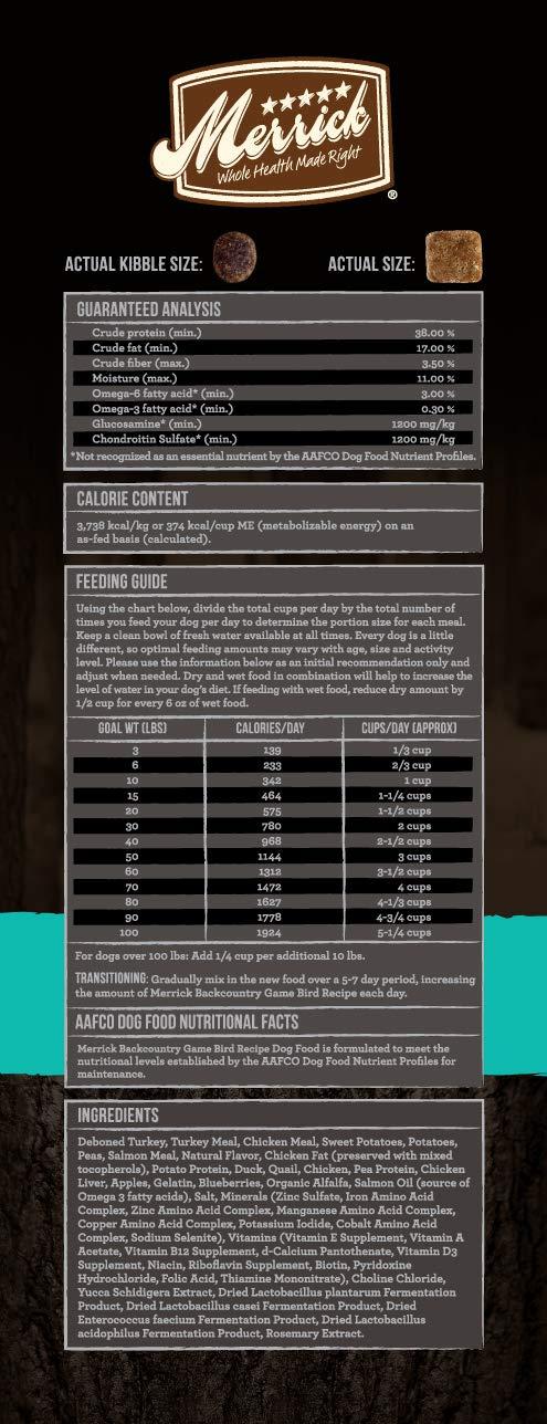 Merrick Backcountry Grain Free Raw Infused Game Bird Recipe Dry Cat Food, 10 Lb. by Merrick
