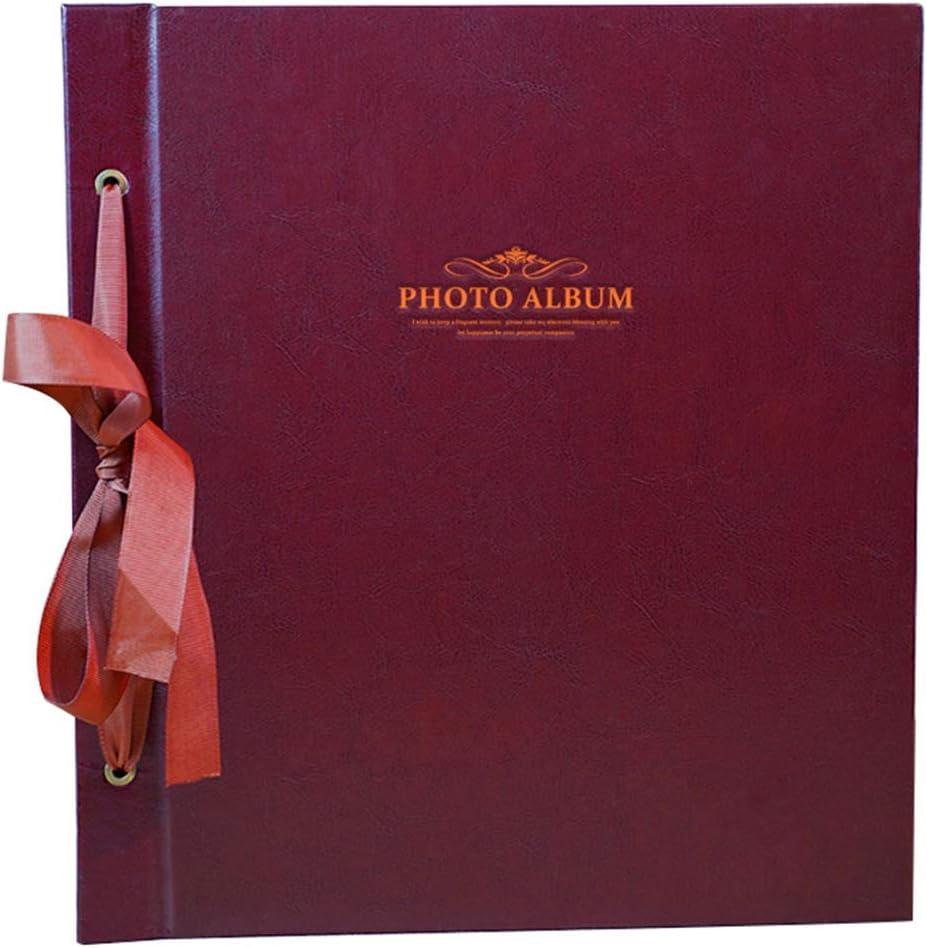 Trjyr Photo Albums 4R Interstitial PU Retro Photo Album Color : Coffee Color 1000 Sheets 6X4 Large-Capacity Home Wedding Baby Grow Memorial Book