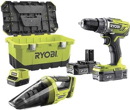 RYOBI Perceuse 18 V - 2 batteries lithium + 2,0 Ah - 2 vitesses ...
