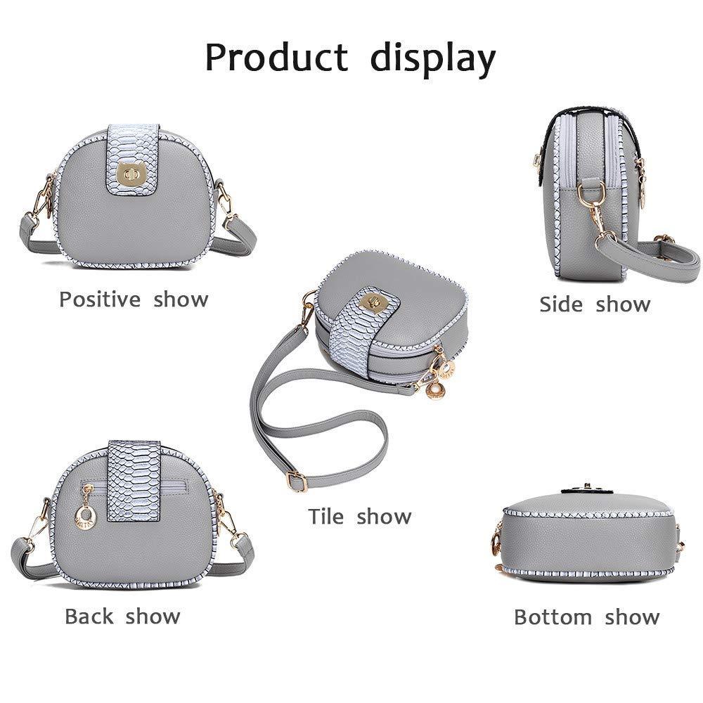 Stylish Women Multi-Purpose Leatherette Messenger Bags Shoulder Bag Handbag Wallet Pack of 6 pollyhb Bag
