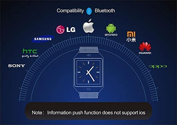 VELL- TECH Bluetooth Smart Watch with Camera and Sim Card Support for  Samsung Galaxy Note GT350
