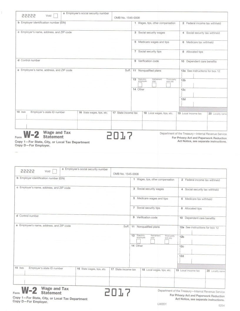 Amazon.com : IRS Form W2 Employer Tax Forms - 2017 Kit for 10 ...