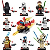 8pcs Star Wars 7 The Force Awakens MinifigureKylo Ren Captain Phasma Building Block Toy JR763 Compatible with Lego