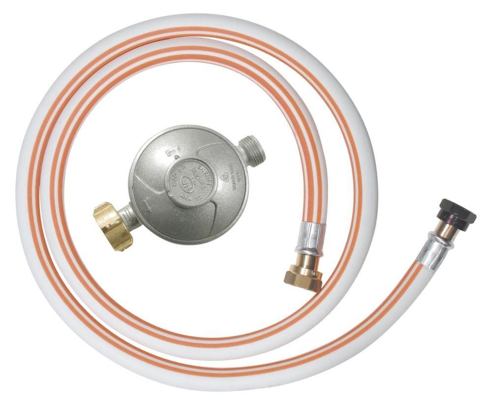 Ribitech - dg170tv810/b - Kit tuyau flexible butane avec 1 dé tendeur, 1 té tine et 1 tuyau flexible 1m50 1 tétine et 1 tuyau flexible 1m50