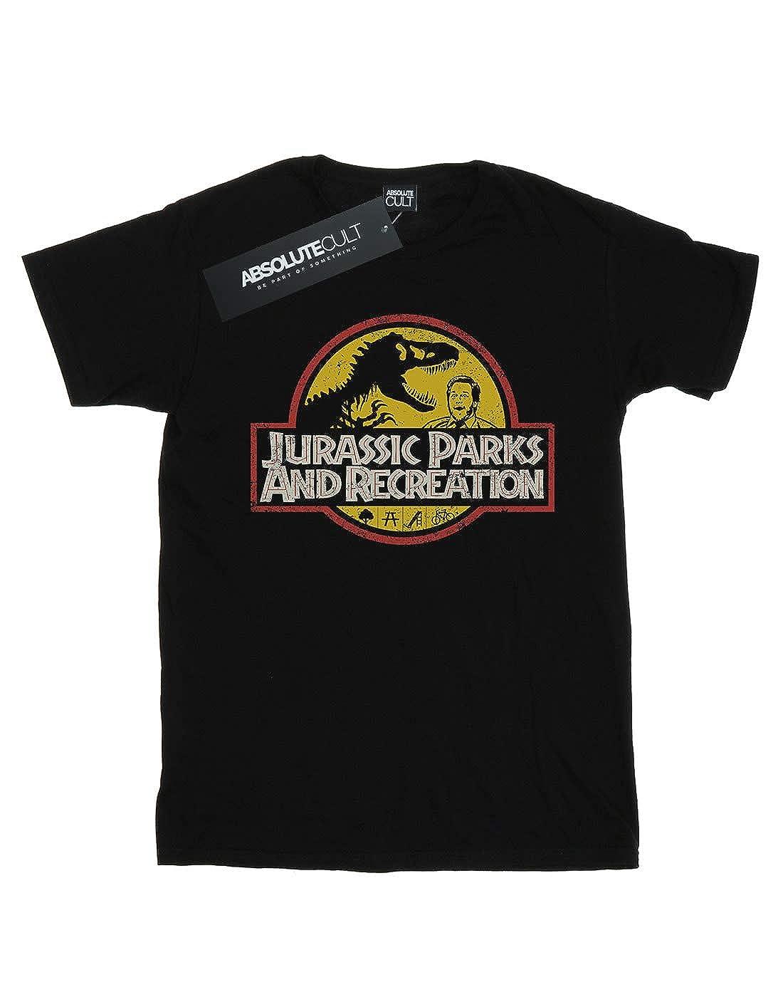 Absolute Cult Funtimes Boys Jurassic Parks /& Rec T-Shirt