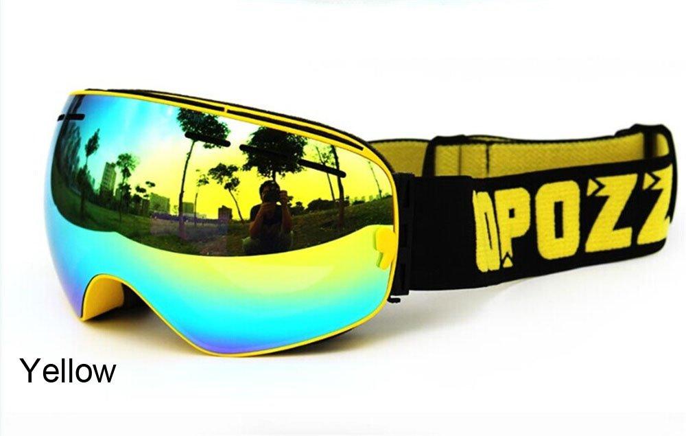 COPOZZ® Pro Gafas De Esquí Polarizadas Espejo (Protección UV400, Antiniebla)  Ventisca Ciclismo Snowboarding Skibrille Airbrake, Gafas De Doble Lentes para ...