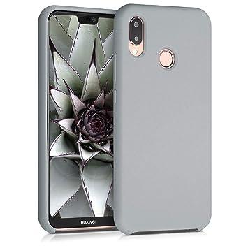 kwmobile Funda para Huawei P20 Lite - Carcasa de TPU para teléfono móvil - Cover Trasero en Gris Claro Mate