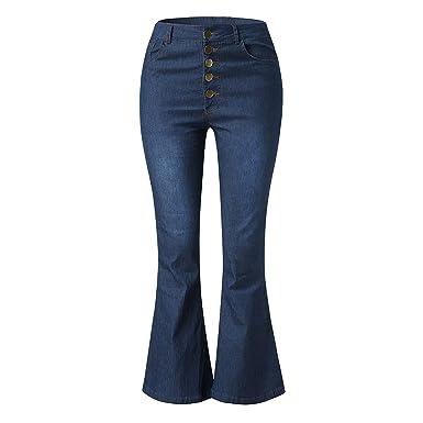 ZongCheng jeans Pantalones Vaqueros elásticos para Mujer con ...