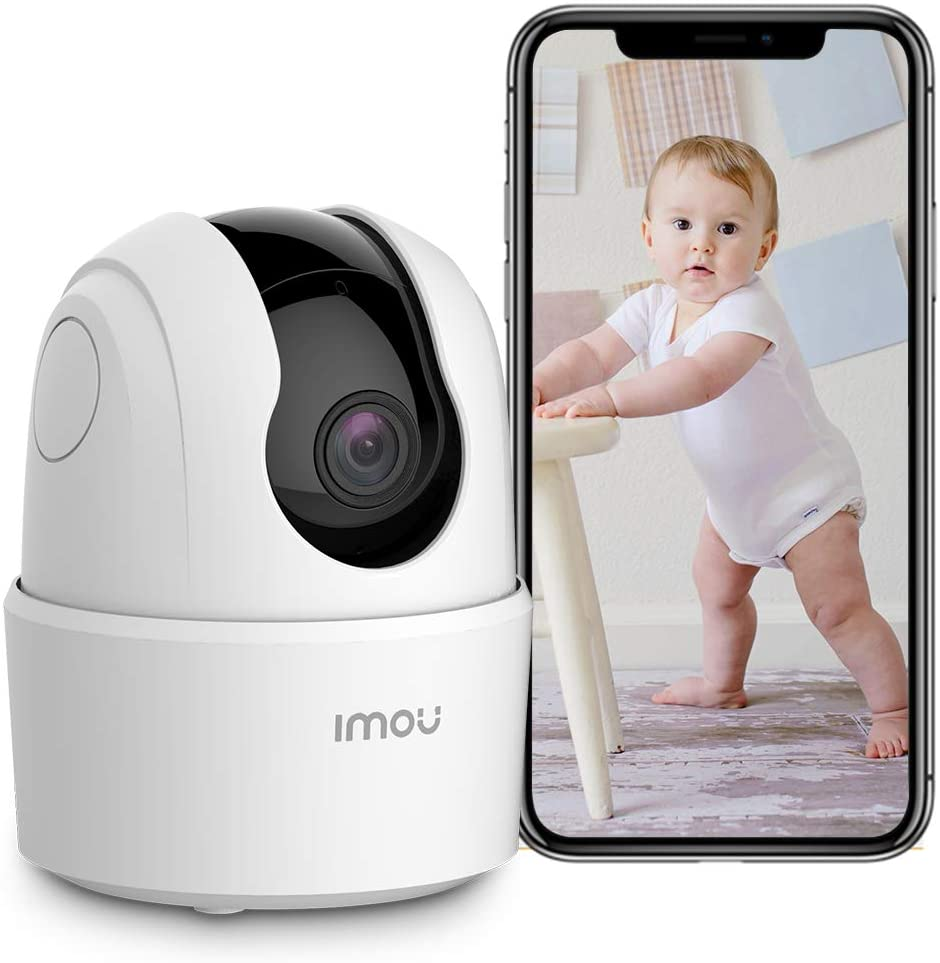 Indoor Security Camera 1080p WiFi Camera (2.4G Only) 360 Degree Home Camera with App, Night Vision, 2-Way Audio, Human Detection, Motion Tracking, Sound Detection, Local & Cloud Storage