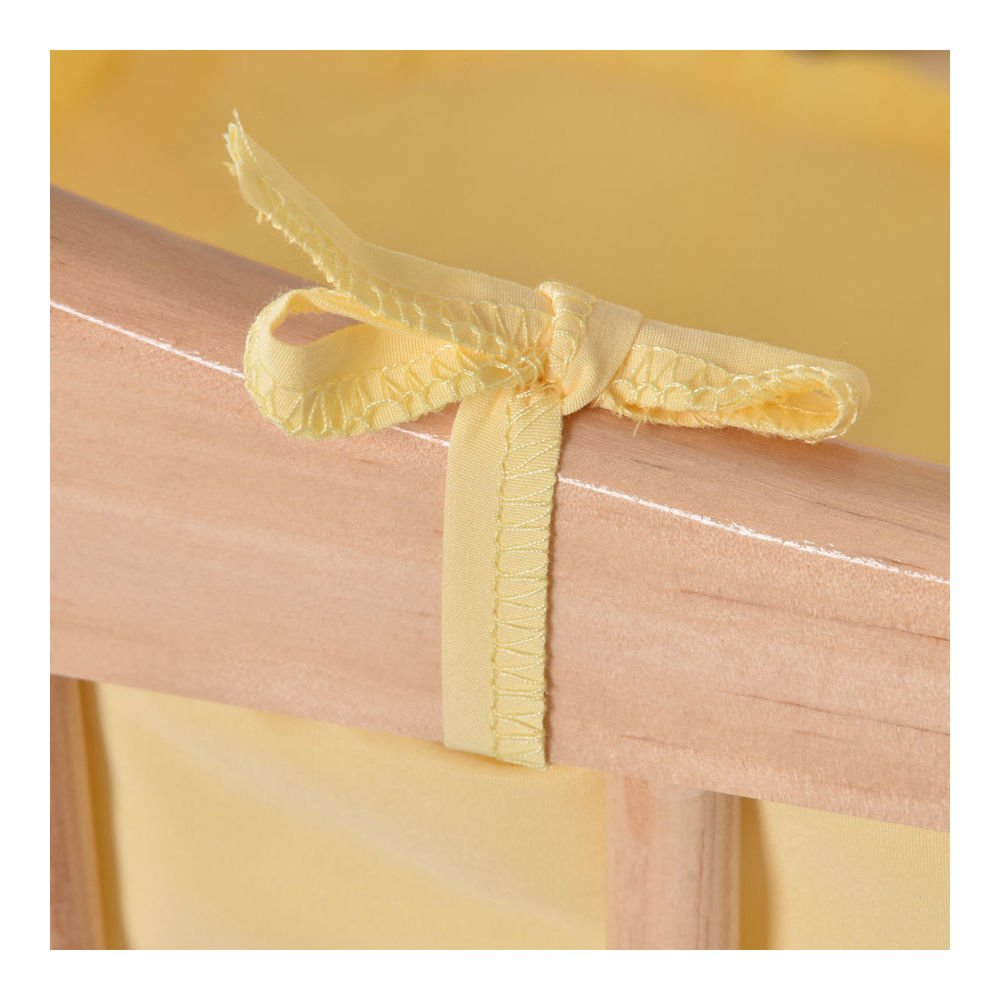 Wood Baby Cradle Rocking Crib Bassinet Bed Sleeper Born Portable Nursery Yellow by Unknown (Image #8)