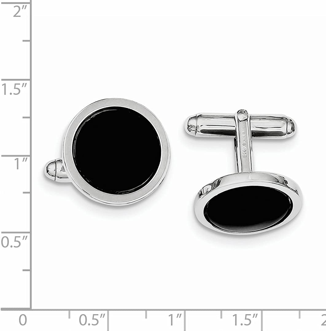 Sterling Silver Rhodium Plated Cuff Links for Mens Fine Jewelry Ideal Gifts For Women
