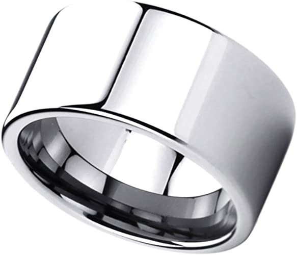 Wedding Bands Classic Bands Flat Bands SS 9mm Flat Size 10 Band Size 9
