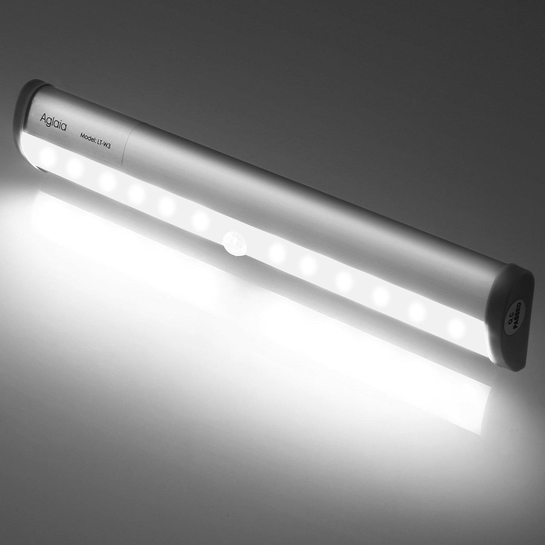 Beautiful Aglaia Led Kabellos Mit Stck Leds Kaltwei Licht Sensor Lampe Fr  Schrank With Led Beleuchtung Schrank