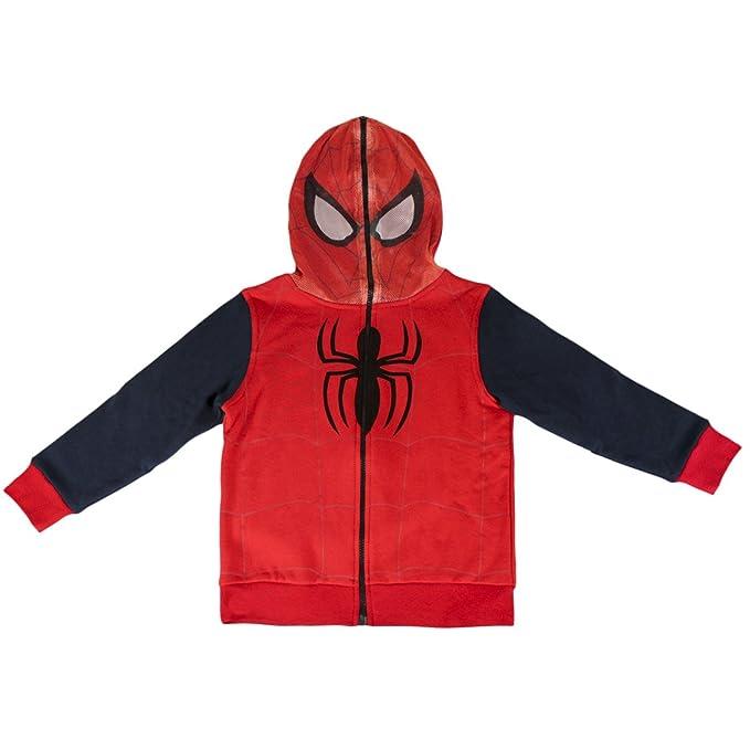 design di qualità 2d0cd f5df5 Spider-Man Avengers - Felpa con Cappuccio Chiusura Totale con Zip Bambino -  novità Prodotto Originale 0882