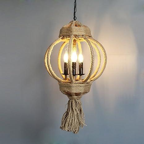 Redondo Farol Diseño Lámpara colgante E14 bombilla Capacidad ...