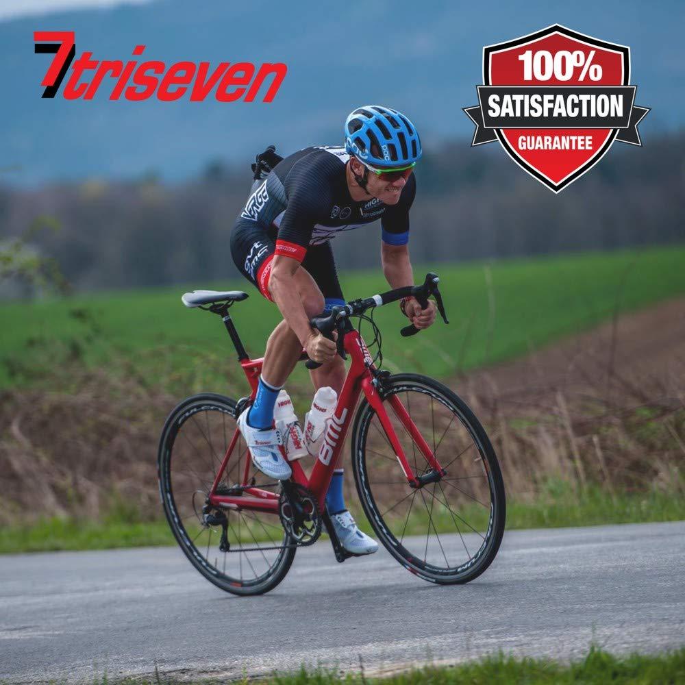 triseven Bolsa de Ciclismo Aero 30 Carbon Cycling billeteras /¡Tiene tel/éfonos celulares Grandes 10 geles Almacenamiento liviano para triatlones y MTB Bombas Herramientas y m/ás!