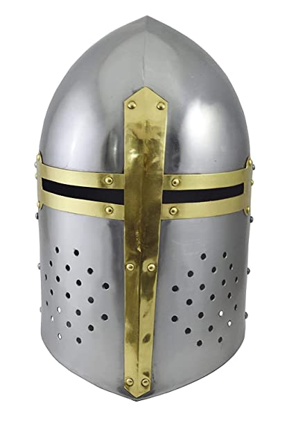 83b775678d3fd Amazon.com  AnNafi Crusader Helmet
