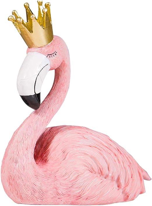 Indoor Glass Flamingo Bird Decorative Ornament Home Room Desk Statue Handcrafted