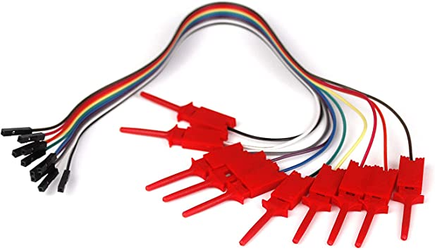 Ytian 10 Pcs Test Clamp Draht Haken Test Clip Für Logic Elektronik