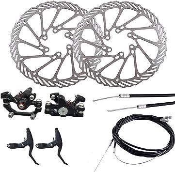 Accesorios de Ciclismo, Freno de Disco mecánico MTB Bicicleta Bicicleta Bicicleta Delantera Trasera Caliper rotores Set: Amazon.es: Electrónica