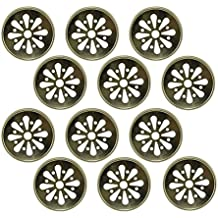Sunshine Mason Co, Lids with Daisy Flower Cut 12 Pieces, Gold
