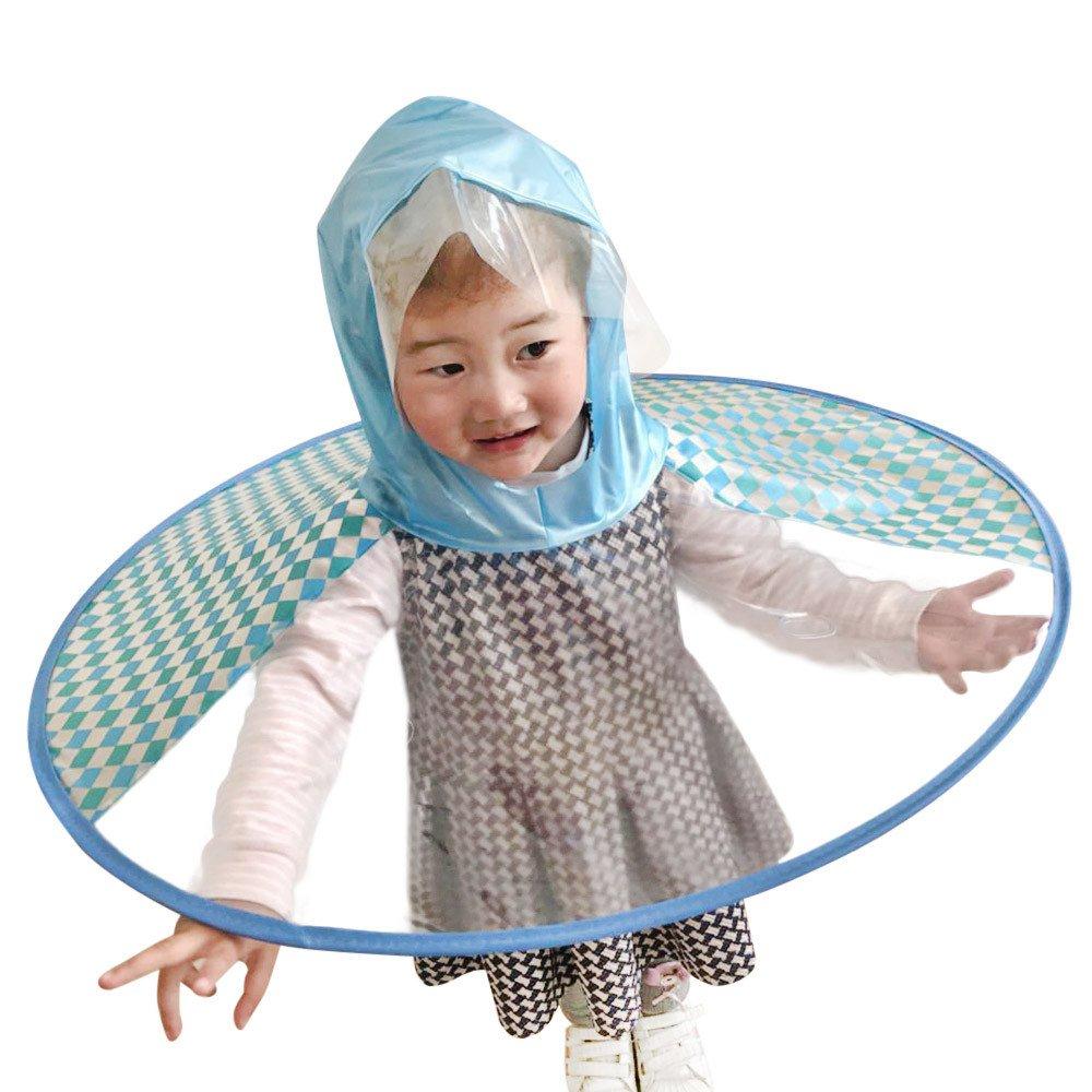 FORH Kind Regenjacke Netter Regenmantel für Männer und Junge Mädchen Regen Mantel Kleine Gelbe Ente Regenschirm Hut Poncho Regencape Regenkleidung