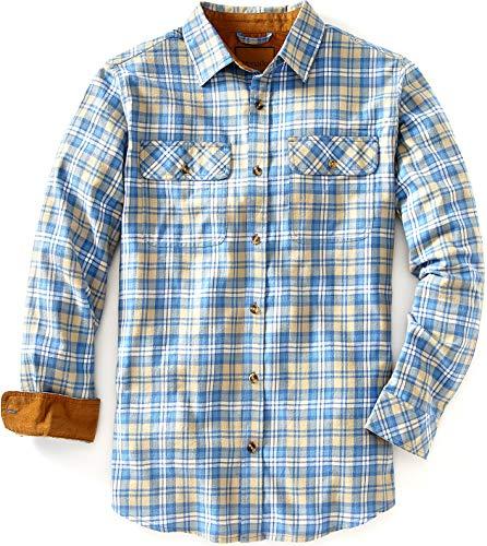 Venado Flannel Shirt for Men - Mens Flannel Plaid Shirt with Full Reach Gusset