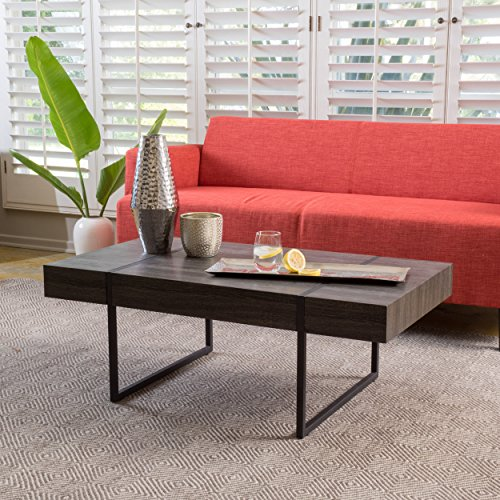 Arizona Black Sonoma Oak Laminated Hardwood Coffee Table