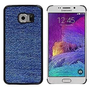 Cubierta protectora del caso de Shell Plástico || Samsung Galaxy S6 EDGE SM-G925 || Fabric Fashion Blue Pattern @XPTECH