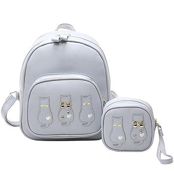Widewing Mochilas mujer guess 2 Bolsas/Set Mujeres Mochila Cartera Estudiante Schoolbag Niñas Bolsas de viaje: Amazon.es: Equipaje