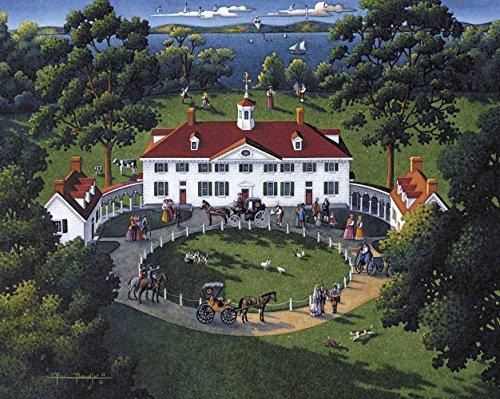 Dowdle Dowdle Dowdle Folk Art Mount Vernon Jigsaw Puzzle 37d7b4