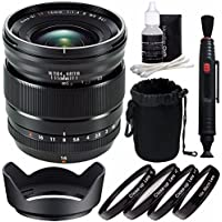 Fujifilm XF 16mm f/1.4 R WR Lens + 67mm +1 +2 +4 +10 Close-Up Macro Filter Set with Pouch Bundle 4