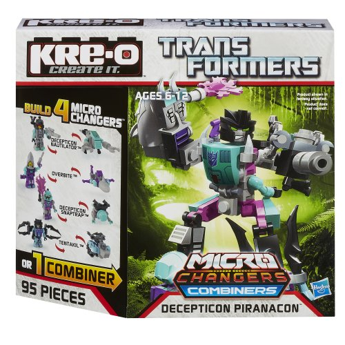 KRE-O Transformers Micro-Changers Combiners Decepticon Piranacon Construction Set - Kreo Transformers Combiners