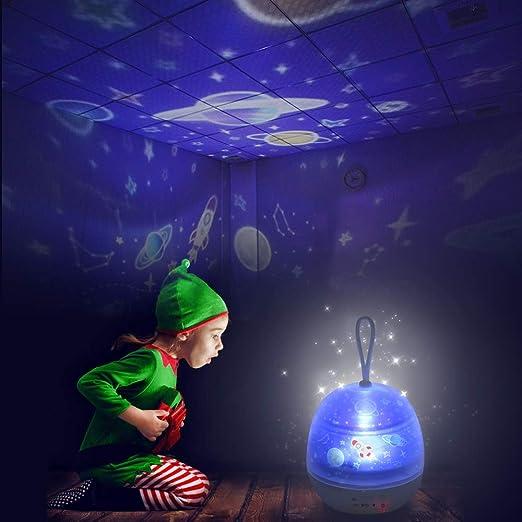 Galapara Lampara Proyector Infantil, Luz de Estrellas LED Colorida ...